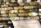 CAA4173 15.5 inches 10*30mm rice line agate beads wholesale