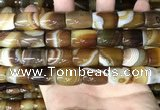 CAA4187 15.5 inches 13*18mm drum line agate gemstone beads