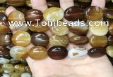 CAA4214 15.5 inches 15*20mm oval line agate beads wholesale