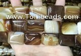 CAA4228 15.5 inches 18*25mm rectangle line agate beads wholesale