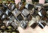 CAA4235 15.5 inches 18*18mm diamond line agate beads wholesale