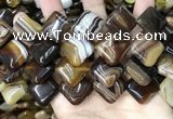 CAA4236 15.5 inches 20*20mm diamond line agate beads wholesale