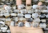CAA4377 15.5 inches 12*16mm rectangle Montana agate beads