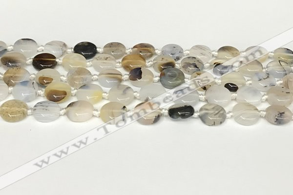 CAA4383 15.5 inches 12mm flat round Montana agate beads