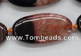 CAA446 15.5 inches 20*40mm oval agate druzy geode gemstone beads