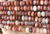CAA4562 15.5 inches 6*8mm - 6*9mm rondelle south red agate beads