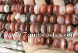 CAA4565 15.5 inches 8*13mm - 8*14mm rondelle south red agate beads