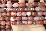 CAA4569 15.5 inches 10*12mm - 11*14mm rice south red agate beads