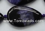 CAA459 15.5 inches 24*40mm flat teardrop agate druzy geode beads
