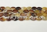 CAA4653 15.5 inches 12*16mm oval banded agate beads wholesale