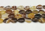 CAA4710 15.5 inches 15*20mm flat teardrop banded agate beads wholesale