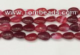 CAA4713 15.5 inches 15*20mm flat teardrop banded agate beads wholesale