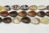 CAA4718 15.5 inches 18*25mm flat teardrop banded agate beads wholesale
