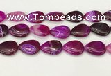 CAA4720 15.5 inches 18*25mm flat teardrop banded agate beads wholesale