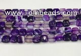 CAA4727 15.5 inches 10*10mm square banded agate beads wholesale