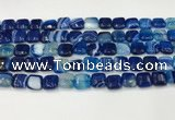 CAA4731 15.5 inches 10*10mm square banded agate beads wholesale