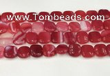 CAA4744 15.5 inches 14*14mm square banded agate beads wholesale