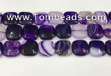 CAA4766 15.5 inches 20*20mm square banded agate beads wholesale