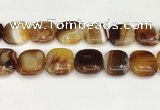 CAA4773 15.5 inches 25*25mm square banded agate beads wholesale