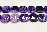 CAA4782 15.5 inches 30*30mm square banded agate beads wholesale