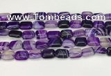 CAA4790 15.5 inches 10*14mm rectangle banded agate beads wholesale