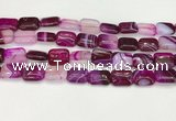 CAA4799 15.5 inches 12*16mm rectangle banded agate beads wholesale