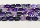 CAA4806 15.5 inches 13*18mm rectangle banded agate beads wholesale
