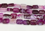 CAA4815 15.5 inches 15*20mm rectangle banded agate beads wholesale