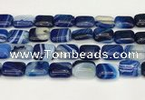 CAA4818 15.5 inches 15*20mm rectangle banded agate beads wholesale
