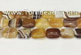 CAA4821 15.5 inches 18*25mm rectangle banded agate beads wholesale