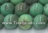 CAA4871 15.5 inches 8mm round grass agate beads wholesale
