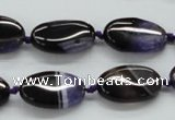 CAA490 15.5 inches 12*20mm oval agate druzy geode beads