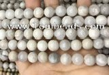 CAA4930 15.5 inches 10mm round grey agate beads wholesale