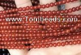 CAA4946 15.5 inches 4mm round red agate beads wholesale