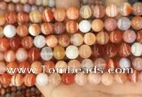 CAA5002 15.5 inches 8mm round red botswana agate beads wholesale
