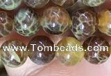 CAA5036 15.5 inches 4mm round yellow dragon veins agate beads