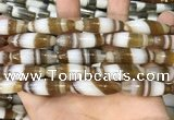 CAA5122 15.5 inches 10*30mm rice striped agate beads wholesale