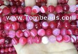CAA5194 15.5 inches 10mm faceted round banded agate beads