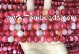 CAA5199 15.5 inches 6mm faceted round banded agate beads