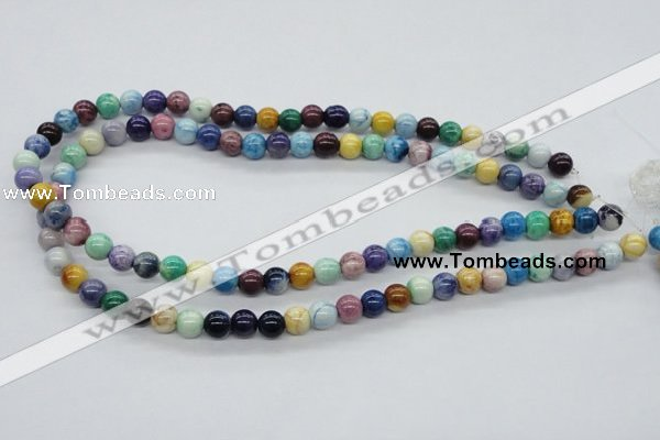 CAA52 15.5 inches 8mm round dyed white agate gemstone beads