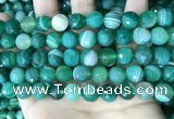 CAA5236 15.5 inches 10mm faceted round banded agate beads