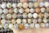 CAA5251 15.5 inches 10mm round sakura agate beads wholesale