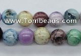 CAA53 15.5 inches 10mm round dyed white agate gemstone beads