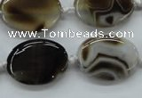 CAA531 15.5 inches 22*30mm oval madagascar agate gemstone beads