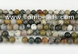 CAA5331 15.5 inches 8mm round ocean agate beads wholesale