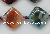 CAA555 15.5 inches 20*20mm diamond dyed madagascar agate beads