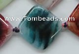 CAA556 15.5 inches 25*25mm diamond dyed madagascar agate beads