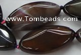 CAA584 15.5 inches 19*38mm faceted marquise dragon veins agate beads