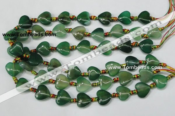 CAA669 15.5 inches 16*16mm heart agate gemstone beads