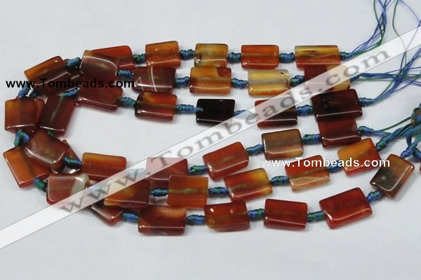 CAA673 15.5 inches 15*20mm rectangle agate gemstone beads